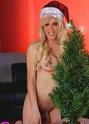 Naughty Jesse Toying Her Ass In Xmas Costume