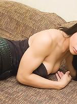 Thin asian tgirl shacking her big shecock