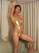 Shapely ladyboy shows tits and ass