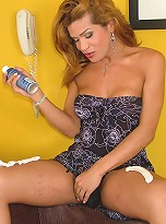 Shemale slut loves how the shaving cream feels on her Shecock