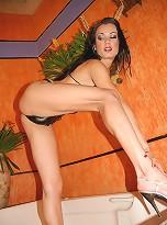 Sexy tgirl hottie struts her stuff