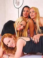 Tranny chicks having wild fuck orgy